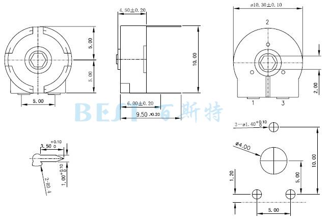 密封式电位器RM100-V1