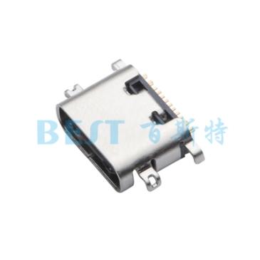 USB插座USB-C-08 16PIN沉板